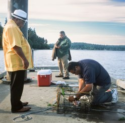 Man prepping bait
